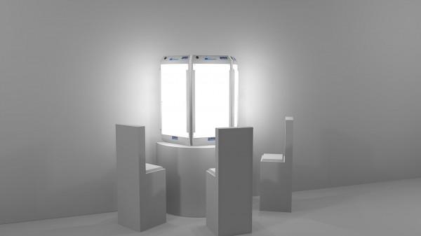 Dreiplatzgerät mit Lichtdome