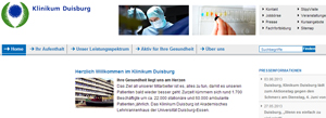 Das Klinikum in Duisburg