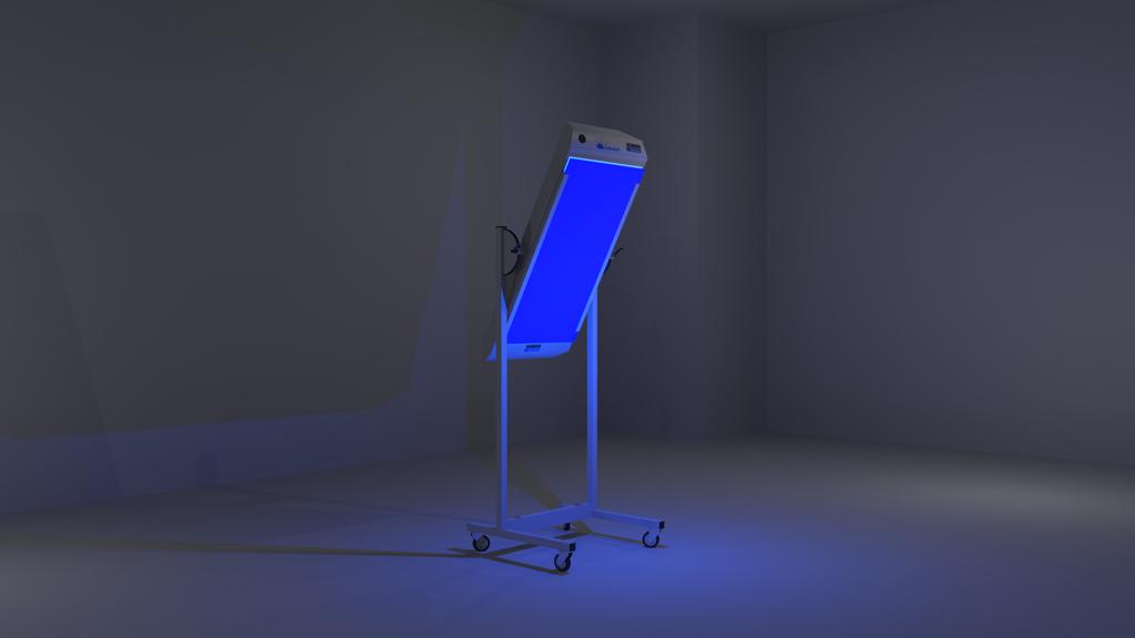Stativgerät mit Farbfilter, Leuchtkraft