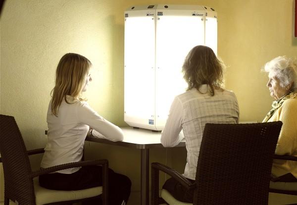 Sitzung Lichttherapie